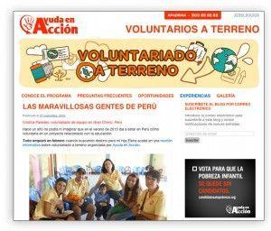 Cómo Ayuda en Acción utiliza los contenidos para conseguir voluntarios.