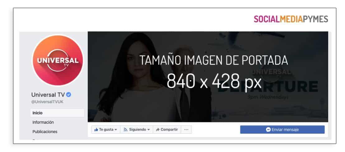 Tamaño de portada de las páginas de Facebook