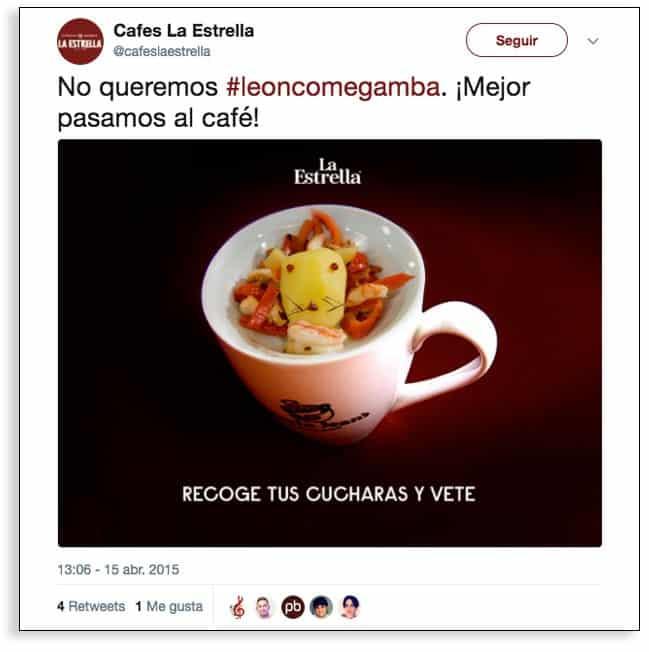 Cafes La Estrella, marketing en tiempo real