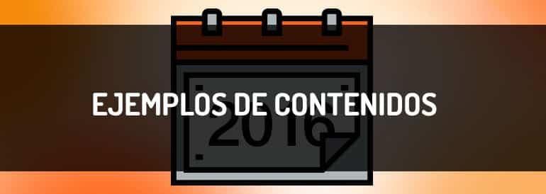 Los mejores ejemplos de contenidos de 2016.