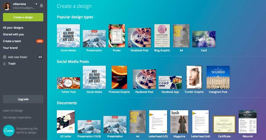 Canva, la herramienta de contenidos para diseñar.