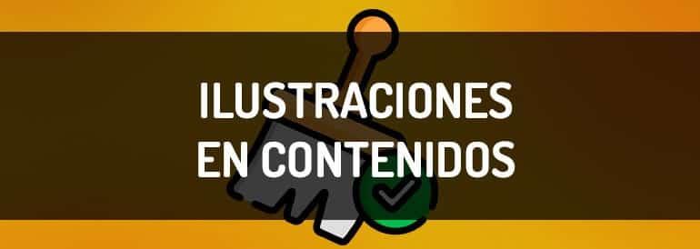 Ilustraciones en marketing de contenidos.