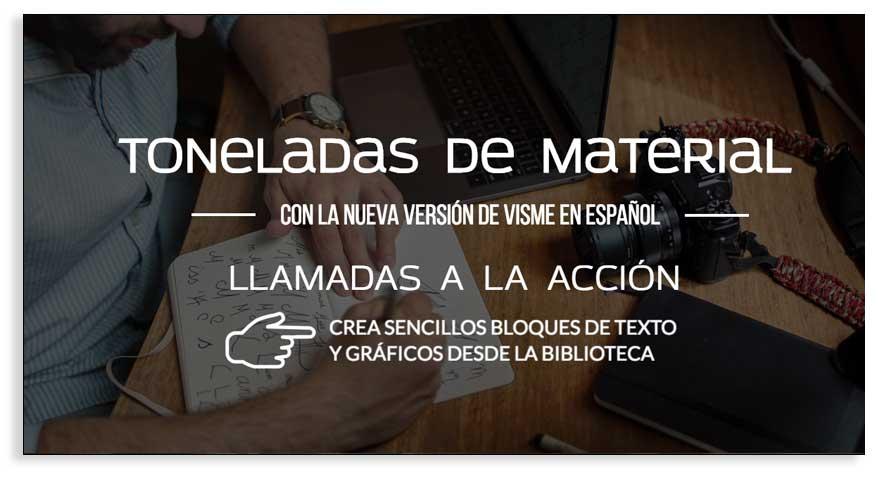 Cómo trabajar con bloques de contenido en la nueva versión de Visme en español.