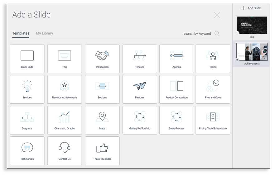 Cómo añadir nuevas dispositivas desde la biblioteca con Visme en español