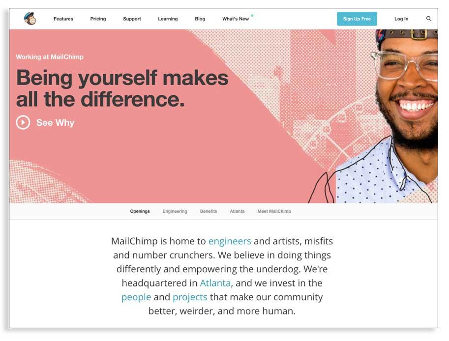 Landing page para encontrar el mejor redactor freelance online.