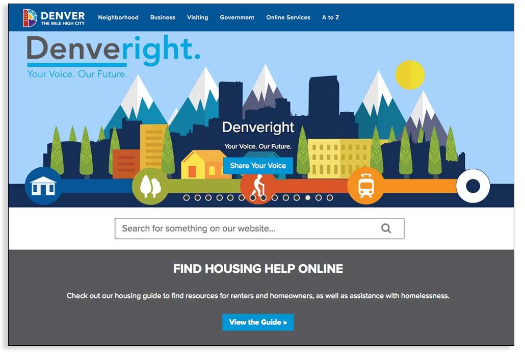 Caso de estudio de un sistema de gestión de contenidos, la ciudad de Denver