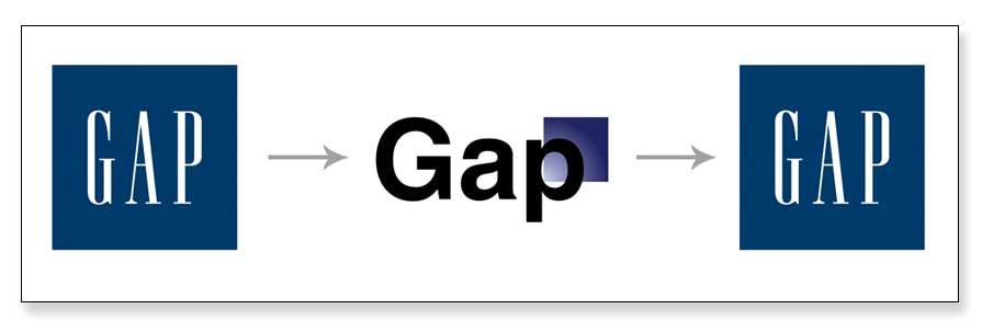Ejemplo de un mal rediseño de marca, GAP