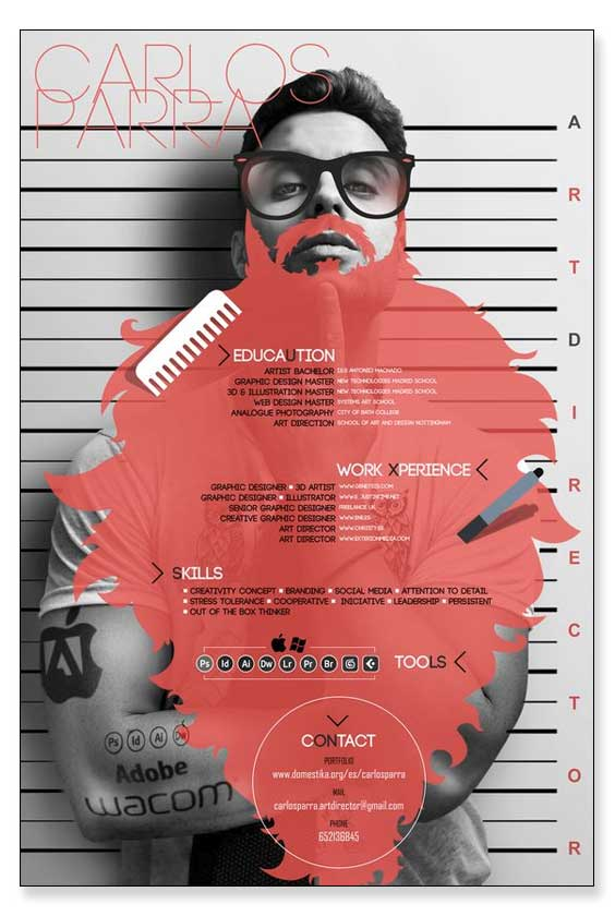 Cv en forma de infografía online