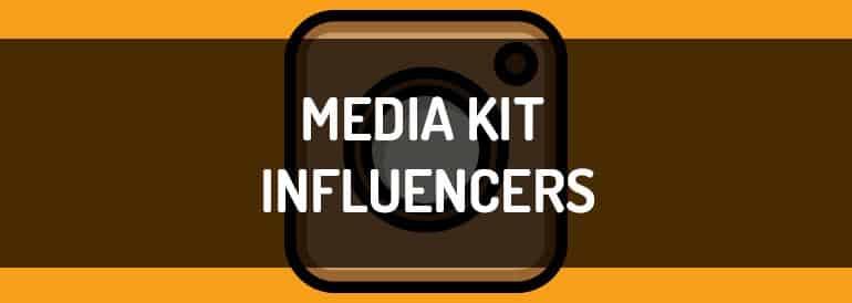 Media kit para influencers, plantilla descargable