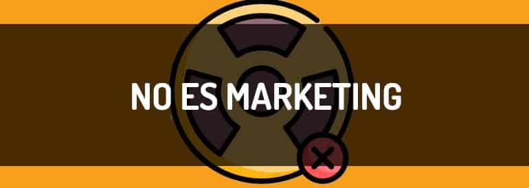 Contenido NO es marketing de contenidos
