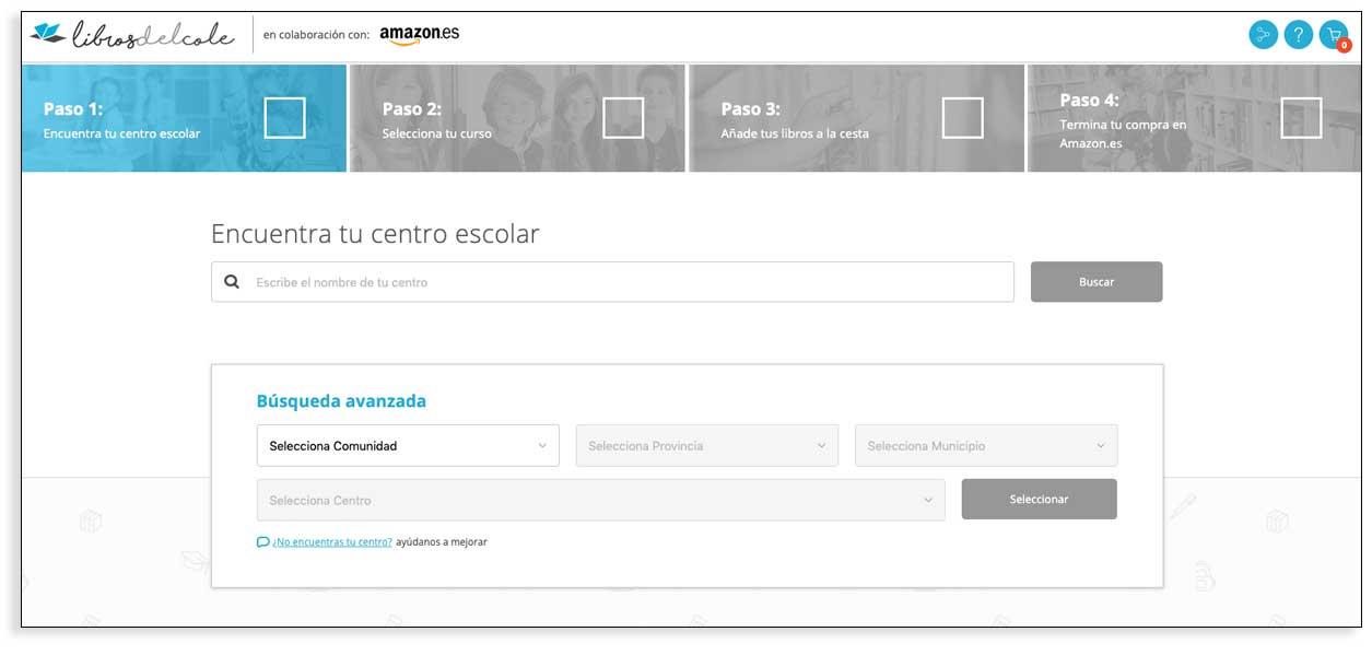 Libros del cole en colaboración con Amazon
