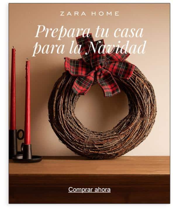 Ejemplo de campaña estacional de Navidad