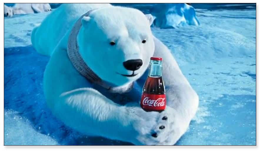 Anuncio de Coca-Cola en los años 90