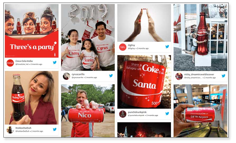 Contenido generado por el usuario de Coca-Cola