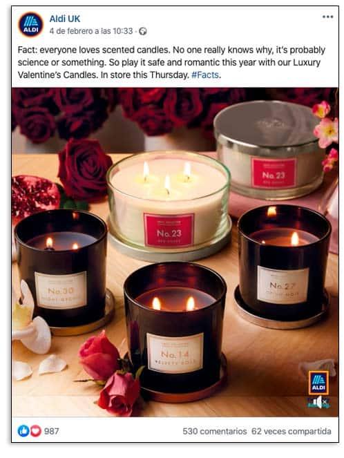 Aldi San Valentín, promoción
