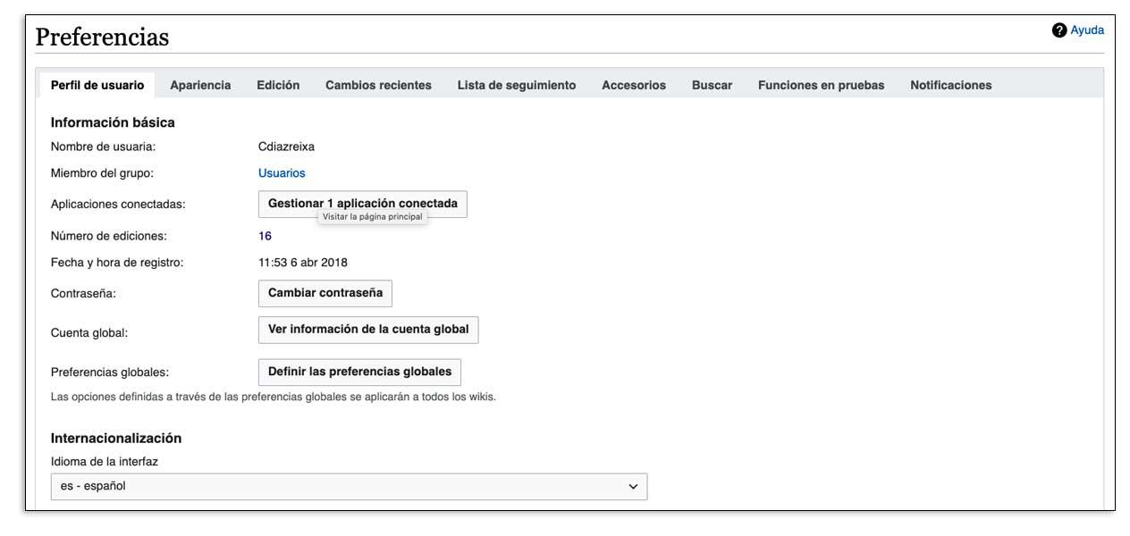 Preferencias de los usuarios de Wikipedia