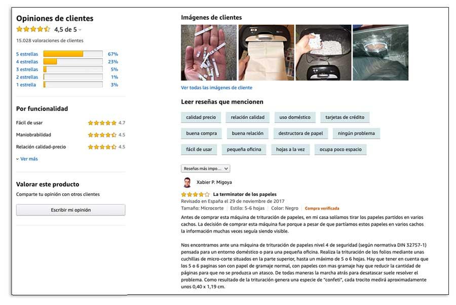 Reseñas en Amazon, por qué son importantes