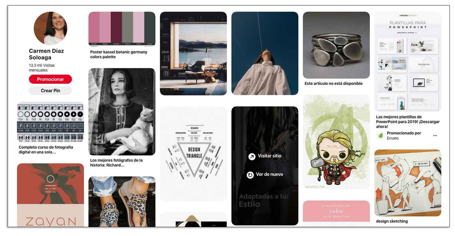 Qué redes sociales elegir, Pinterest es visual