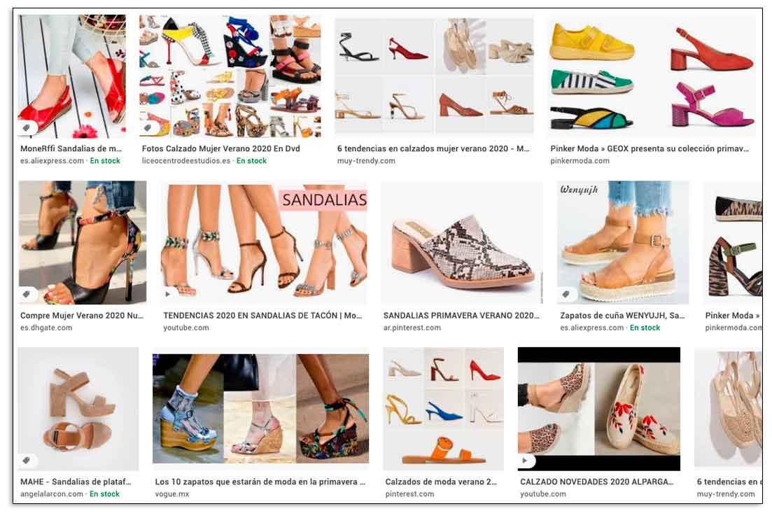 Resultados de búsqueda de imágenes con SEO image Google