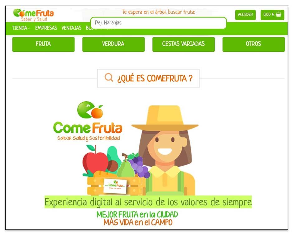 Ideas para emprender online, ecommerce de alimentación