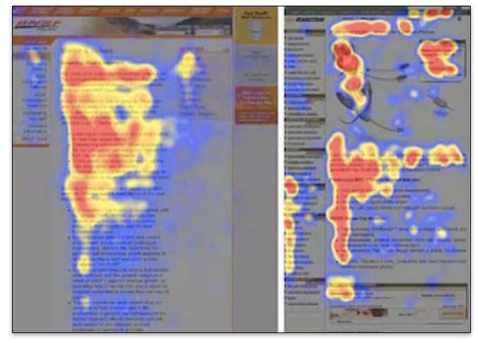 Patrón en F en la lectura web