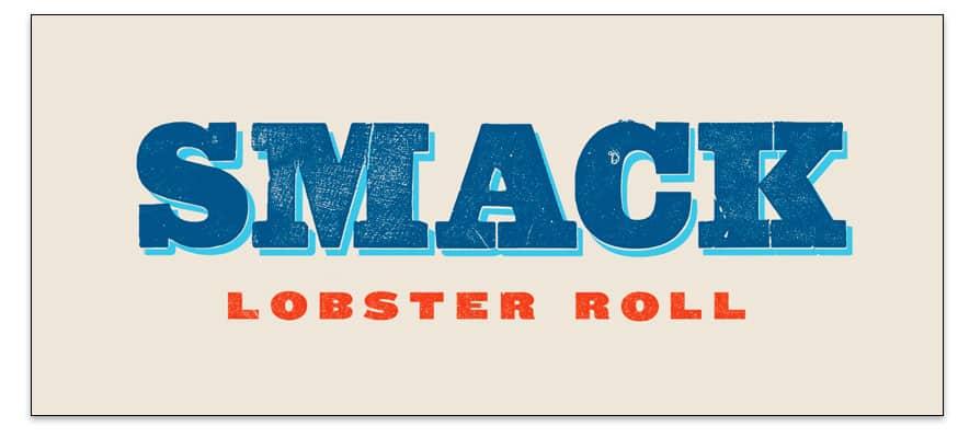 Un logo con fuente Slab-serif