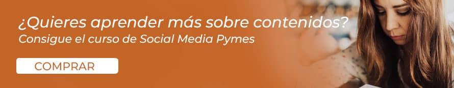 Curso de Social Media Pymes para aprender más sobre contenidos