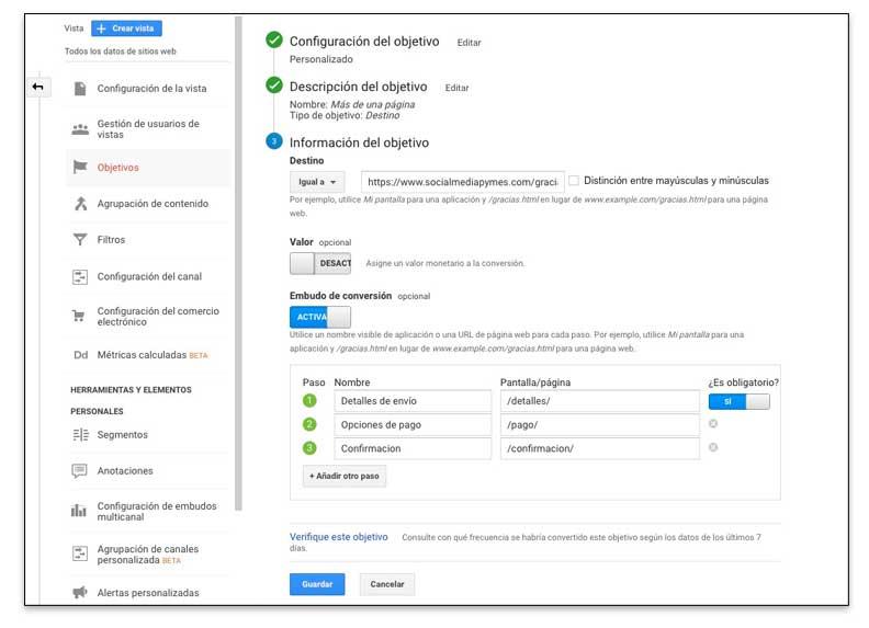 Configurar una auditoría SEO a un post con Google Analytics