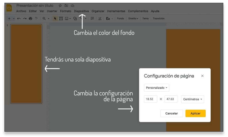 Empieza a diseñar una infografía en Google Slides