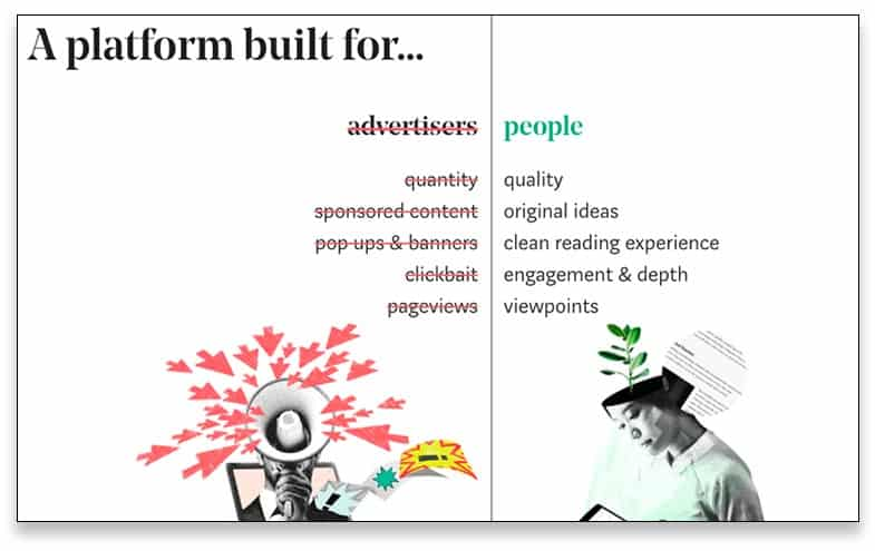 Ejemplo de comparativa en copywriting