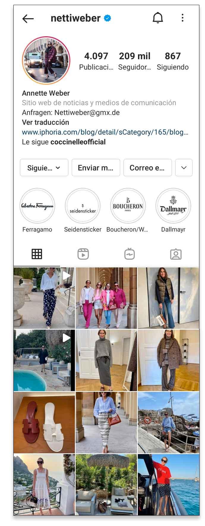 Ejemplo de un buen plan de contenido para Instagram