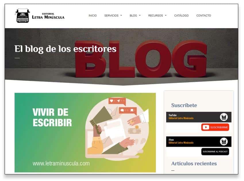 Hacer un blog de escritor, un ejemplo de blog de ayuda
